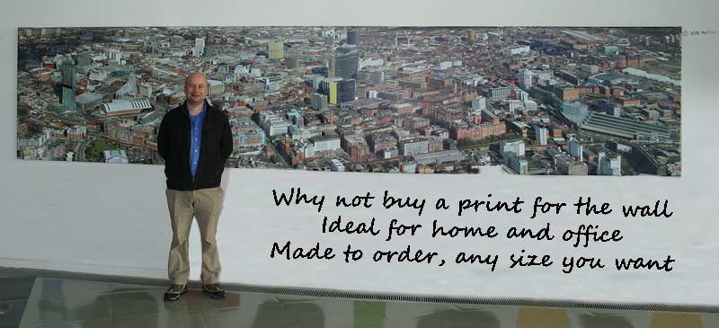 Panorama prints and extra large display products