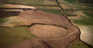 Perborough Castle Iron Age  hill fort  aerial photograph