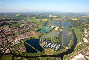 Thames & Kennet Marina , Cavendish Lakes, Reading aerial photograph
