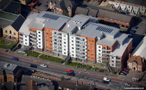 Crossway Point  King's Road Reading  aerial photograph