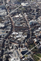 aerial photograph of Friar St  Reading Berkshire  , England UK