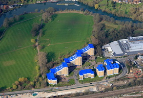 King's Meadow in Reading, Berkshire.  aerial photograph