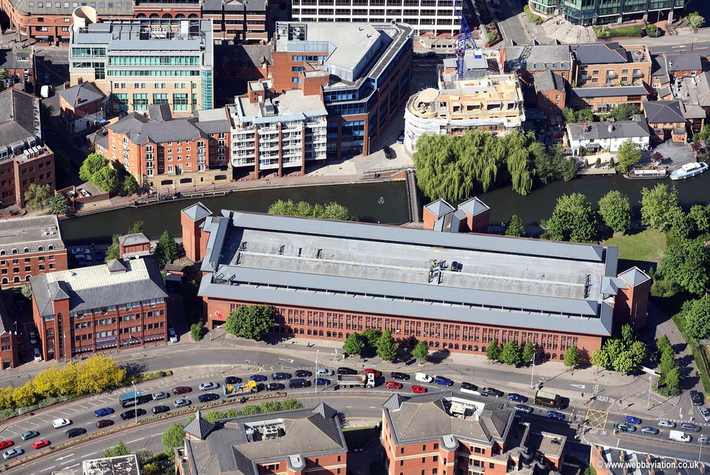 Multi Storey car park on Queens Rd in  Reading  aerial photograph