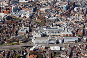 Oracle shopping centre Reading aerial photograph