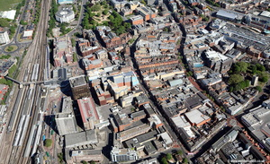 Reading town centre  aerial photograph