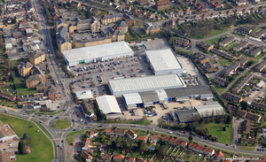 Reading Retail Park aerial photograph
