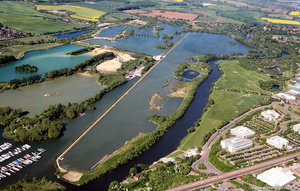 Redgrave Pinsent Rowing Lake Reading aerial photograph