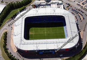 The Madejski Stadium Reading, Berkshire, England UK home of Reading Football Clubaerial photograph