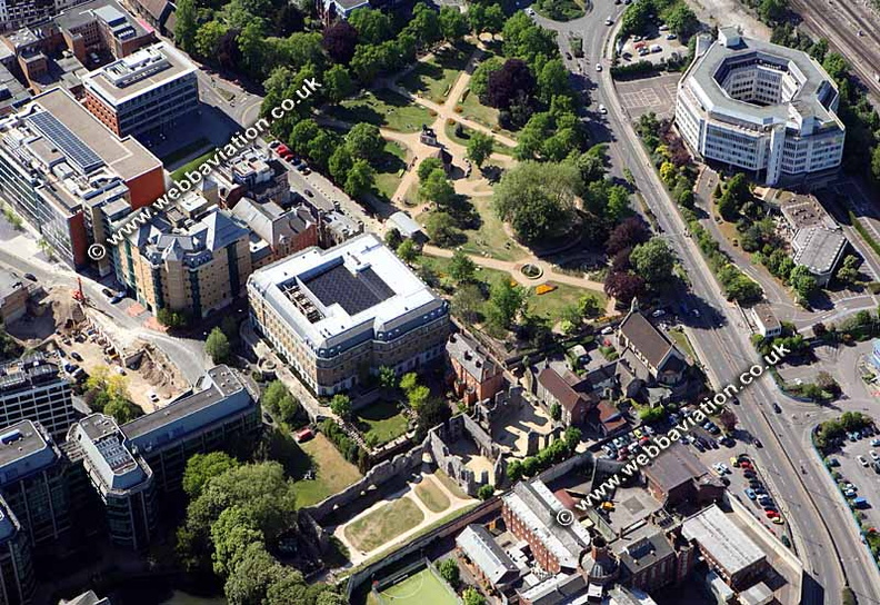 aerial photograph of Reading Berkshire  , England UK