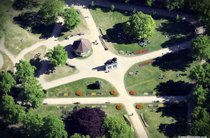 Forbury Gardens Reading  aerial photograph