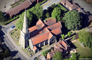 St Giles' Church  Reading aerial photograph