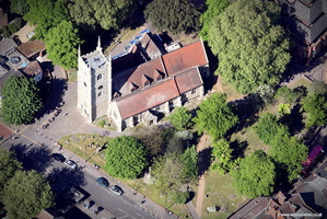 Reading Minster aerial photograph