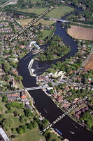 Marlow Buckinghamshire aerial photograph