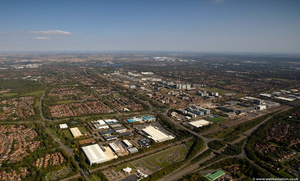 Central Retail Park. Rooksley. , Milton Keynes, MK13 MK8  from the air