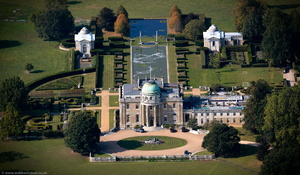 Tyringham Hall from the air