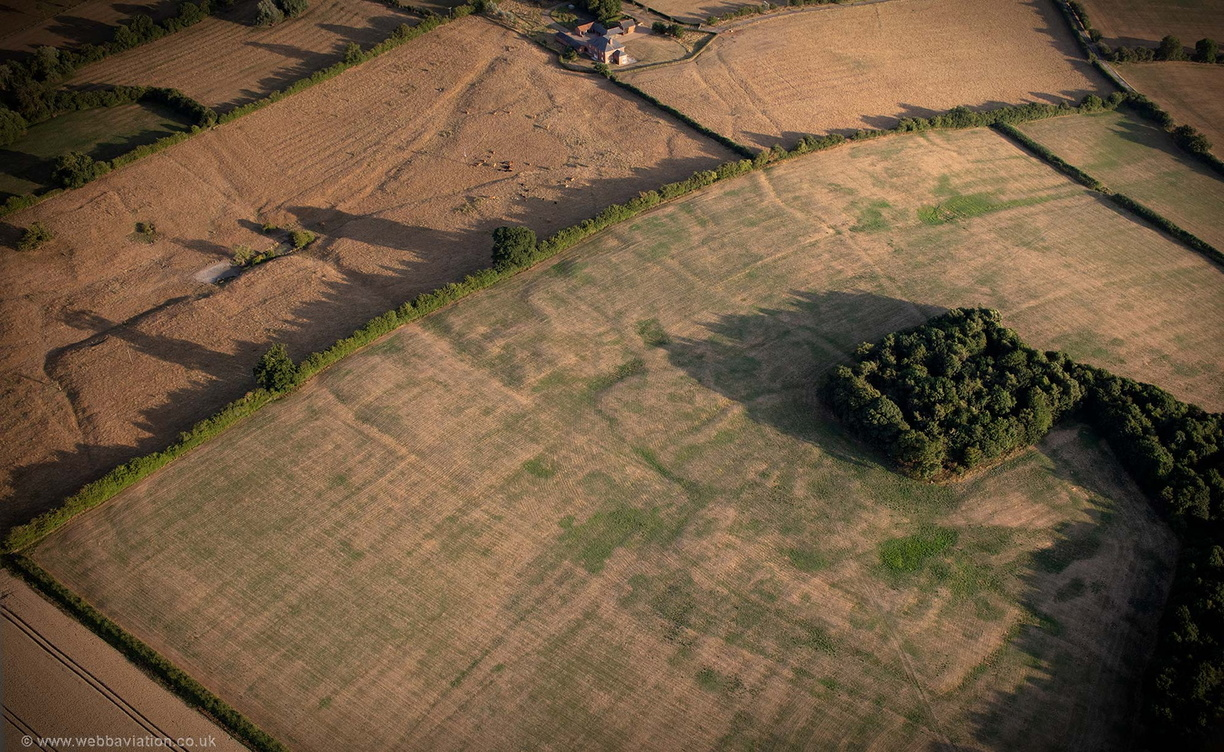 deserted medieval village at Thornborough Buckinghamshire aerial photograph