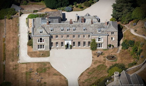 Boconnoc House Cornwall from the air
