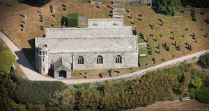 Boconnoc Parish Church Lostwithiel Cornwall from the air