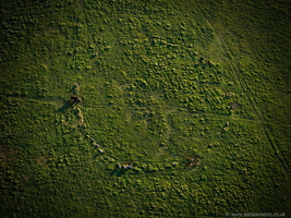 Fernacre stone circle Bodmin Moor from the air