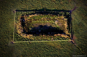 King Arthur's Hall on Bodmin Moor  from the air