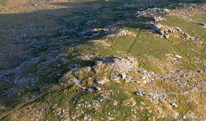prehistoric cairns on Little Rough Tor Bodmin Moor Cornwall  Cornwall from the air