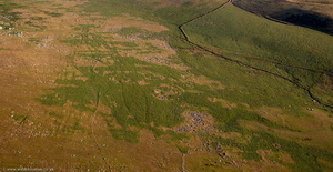 Bronze Age  settlement west of  Little Rough Tor Bodmin Moor Cornwall  from the air
