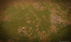 bronze age settlement west of  Rough Tor Bodmin Moor from the air