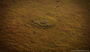 Roughtor Cairn Neolithic  Ring Cairn  aerial photograph
