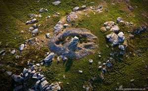 Showery Tor Ring Cairn Bodmin Moor aerial photograph