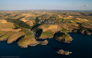 Boscastle aerial photograph