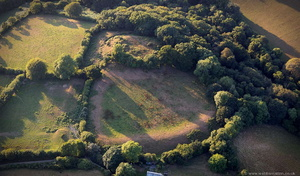 Cardinham Castle Cornwall  from the air