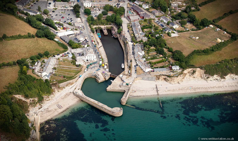 Charlestown  Cornwall   from the air