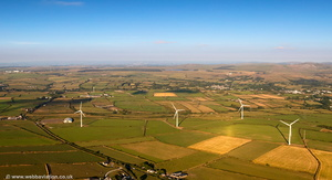 Delabole wind farm  aerial photograph