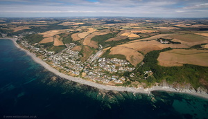 Downderry Cornwall  aerial photograph