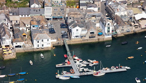 Albert Quay Fowey Cornwall aerial photo