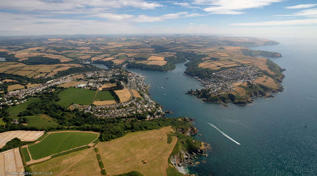 Fowey Cornwall  from the air