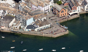 Fowey Cornwall aerial photo