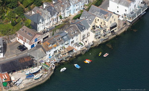 Passage Street Fowey Cornwall  aerial photo