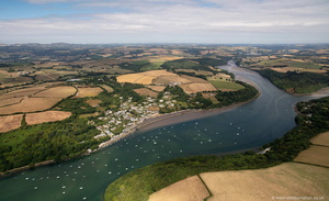 Golant and  the River Fowey  aerial photograph
