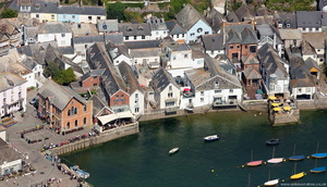 waterfront  Fowey Cornwall aerial photo