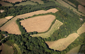 Golden Camp hillfort Probus  Cornwall aerial photograph