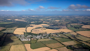 Grampound Road Cornwall UK aerial photograph