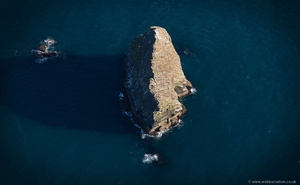 Gull Rock, Cornwall from the air