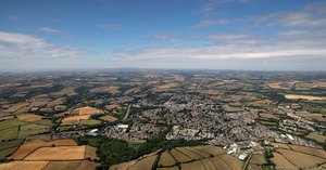 Liskeard Cornwall UK aerial photograph