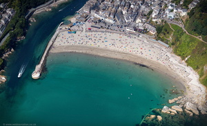 Looe Beach aerial photograph