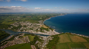 Looe, Cornwall from the air