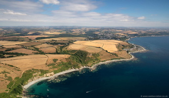 Samphire Beach & Wallace Beach Cornwall  aerial photograph