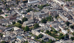 Lostwithiel Cornwall from the air