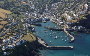 Mevagissey Cornwal from the air