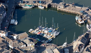 Padstow Harbour from the air